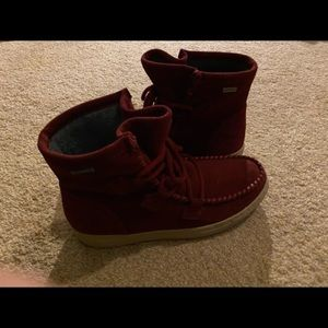 Cougar suede moccasin booties